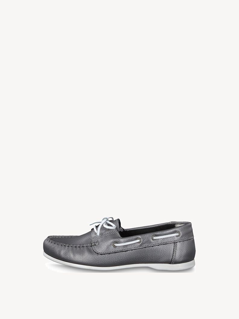 Leather Low shoes - metallic, PEWTER, hi-res