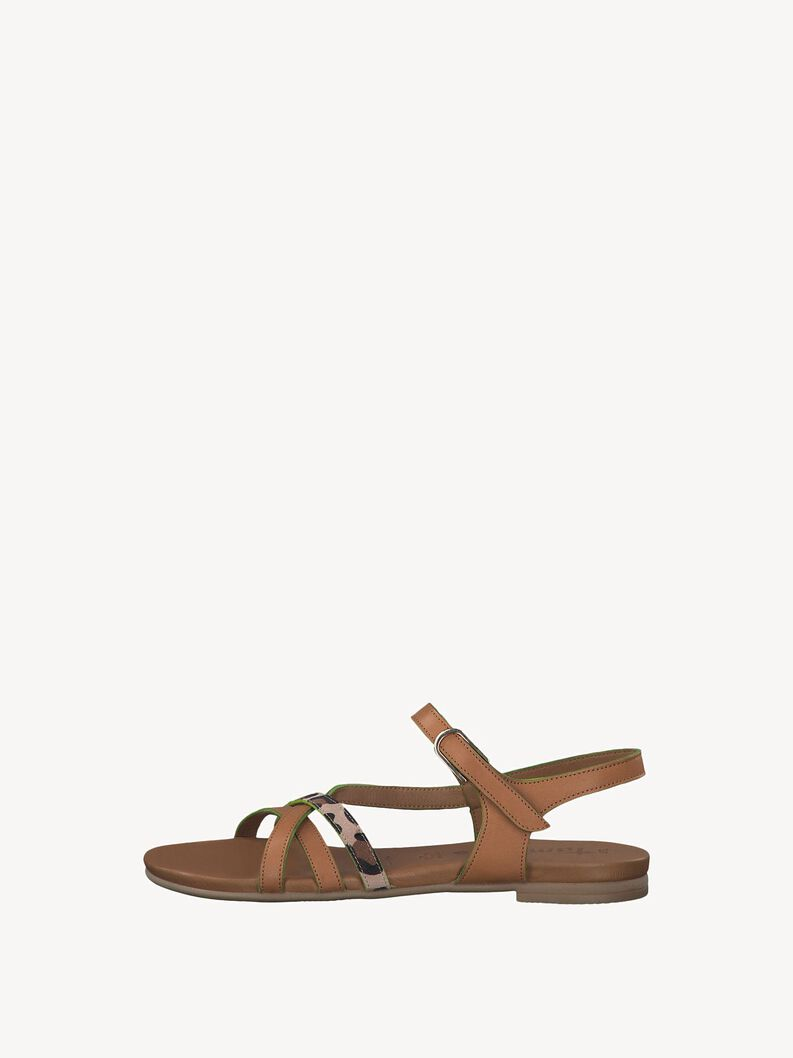 Leather Sandal - brown, NUT COMB, hi-res