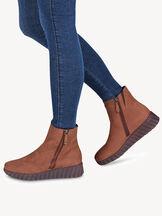 Kožené Kotníčková obuv - hnědá , MAROON NUB/BOR, hi-res