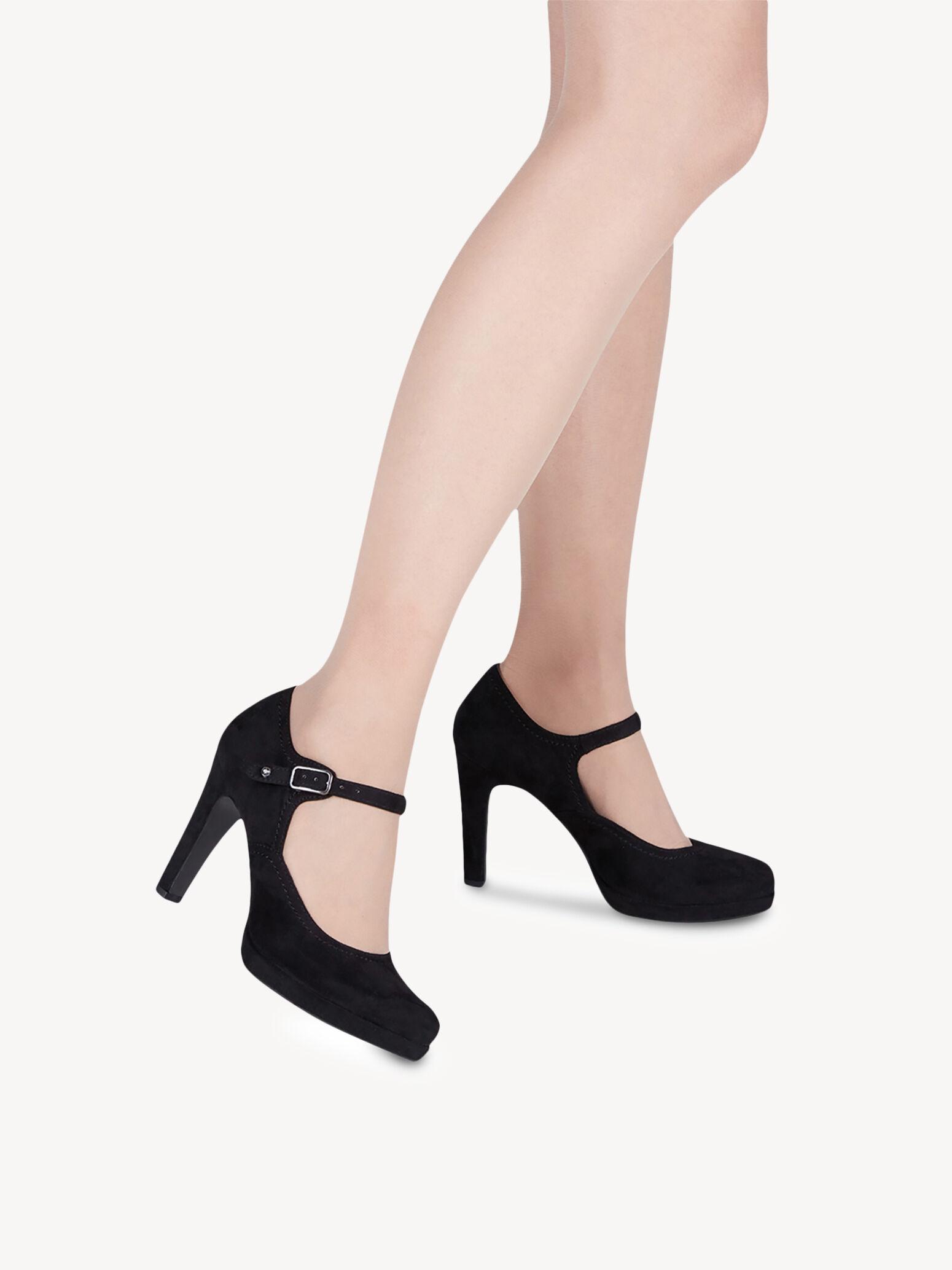 Gute Qualität TAMARIS Peeptoe Pumps Schwarz Verkauf Schuhe