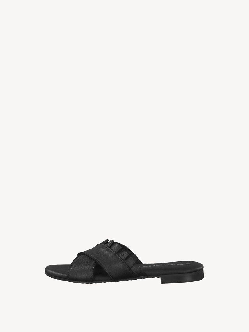 Leather Mule - black, BLACK, hi-res