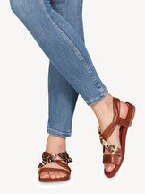 Leather Sandal - brown, COGNAC COMB, hi-res