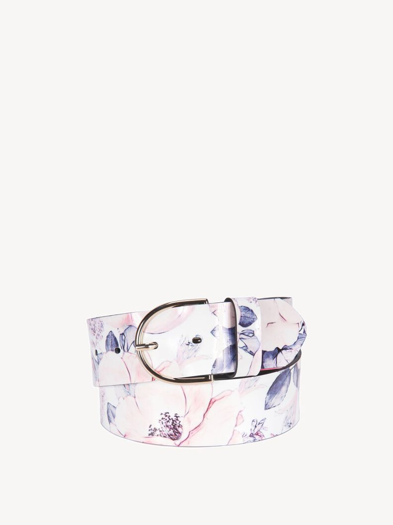 Leather Belts - white, white, hi-res