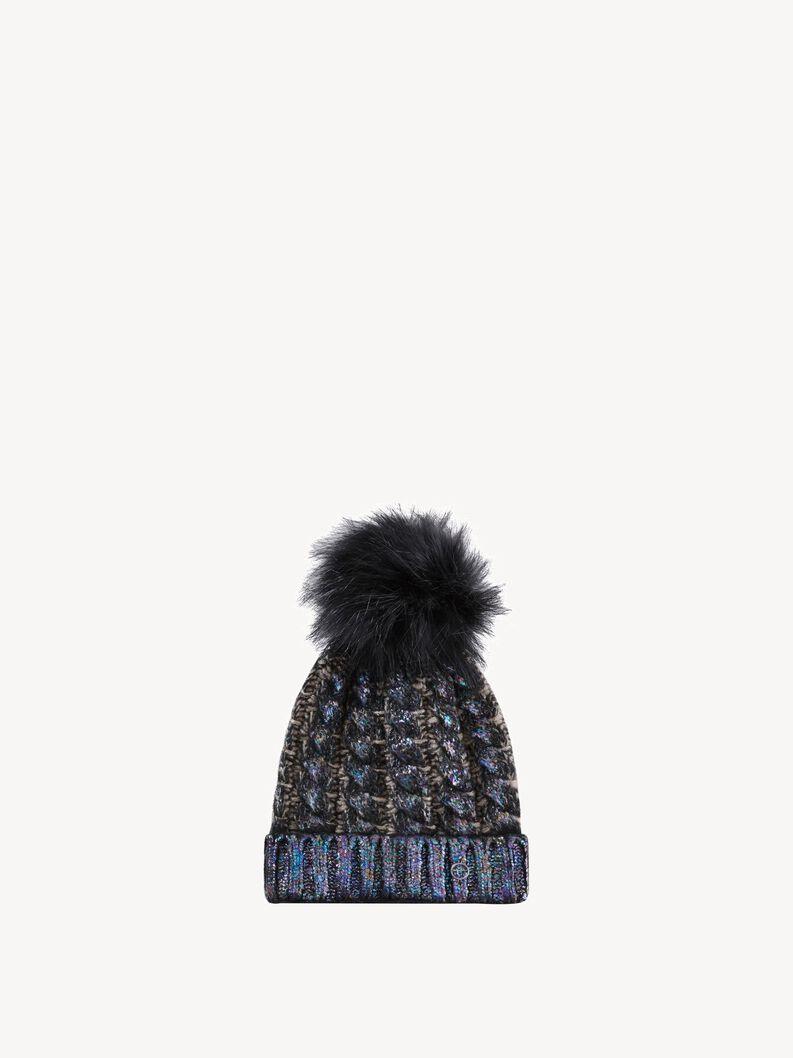 Hat - black, black comb, hi-res