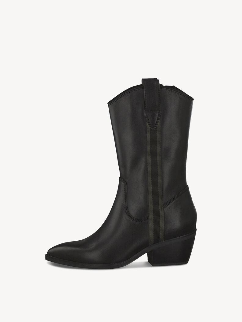 Leather Boots - black, BLACK LEATHER, hi-res