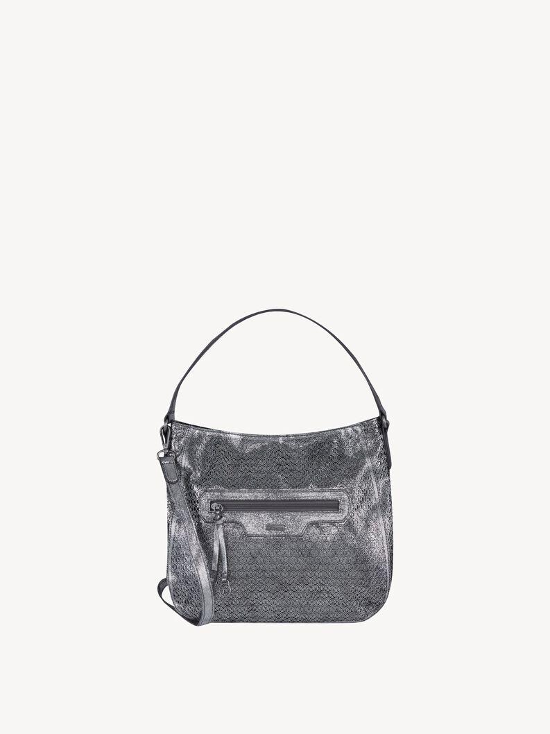 Handbag - silver, pewter, hi-res