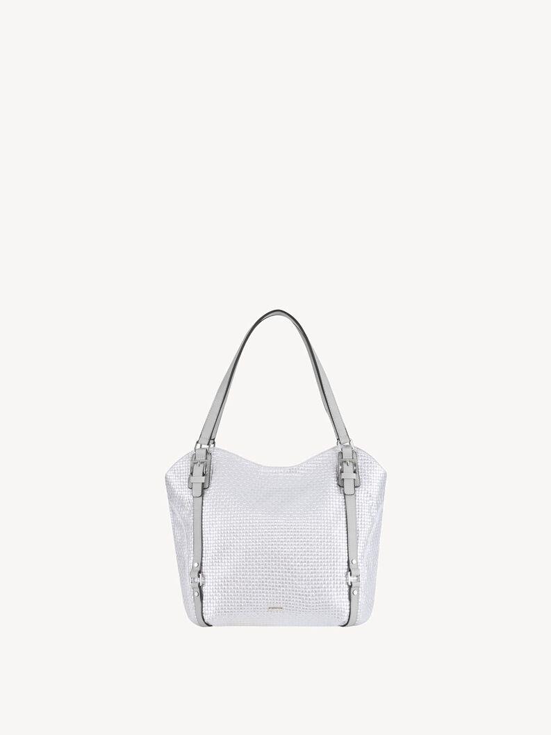 Shopping bag - silver, silver comb., hi-res