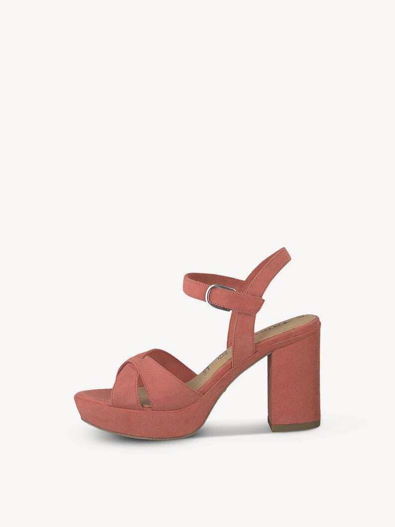 Leather Heeled sandal - pink, RASPBERRY UNI, hi-res