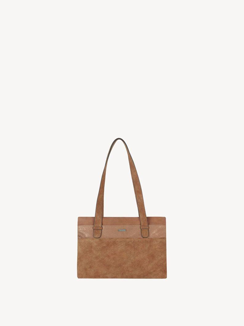 Handbag - beige, nut comb, hi-res