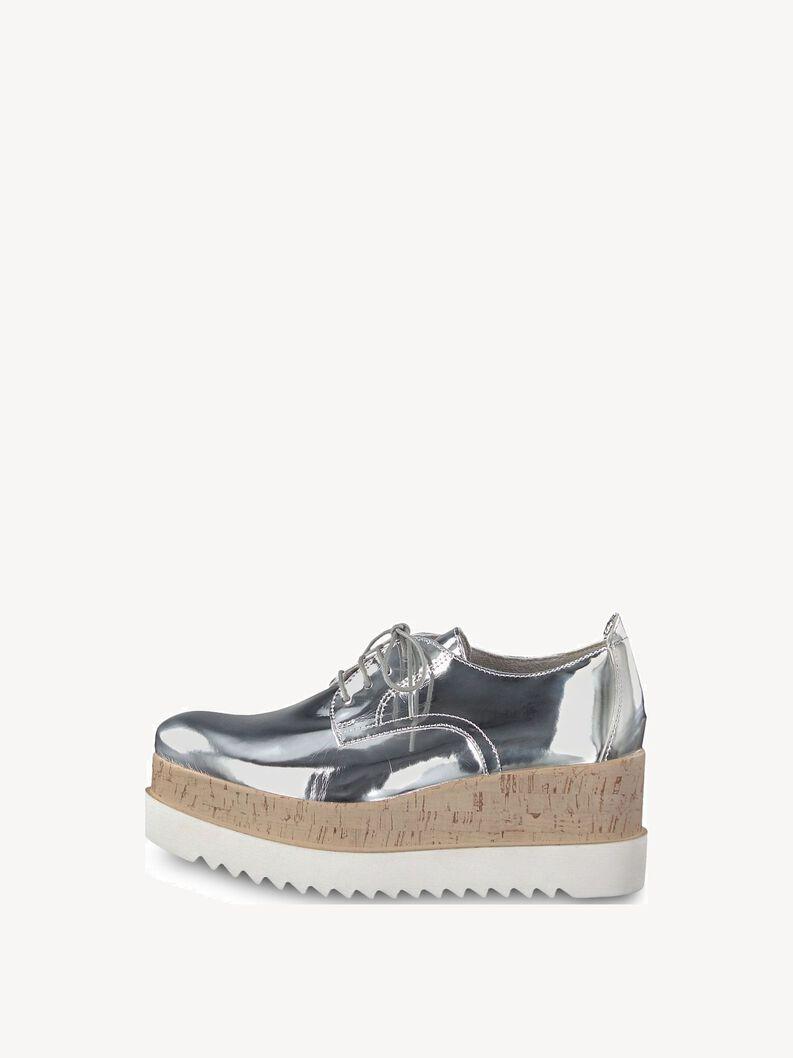 Low shoes - metallic, SILVER METALL., hi-res
