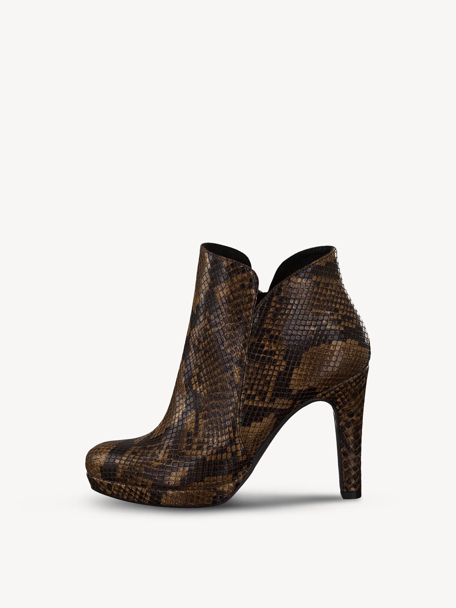 Helle Schuhe von Tamaris in Schlangenlederoptik