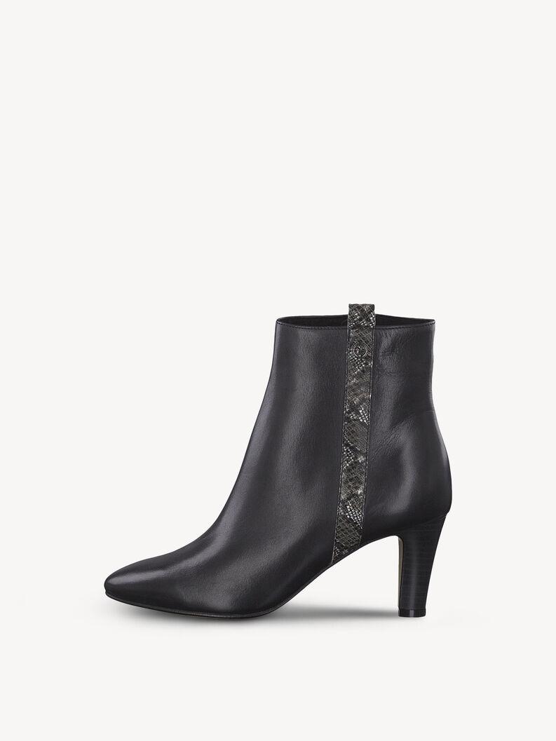 Leather Bootie - black, BLACK/SNAKE, hi-res