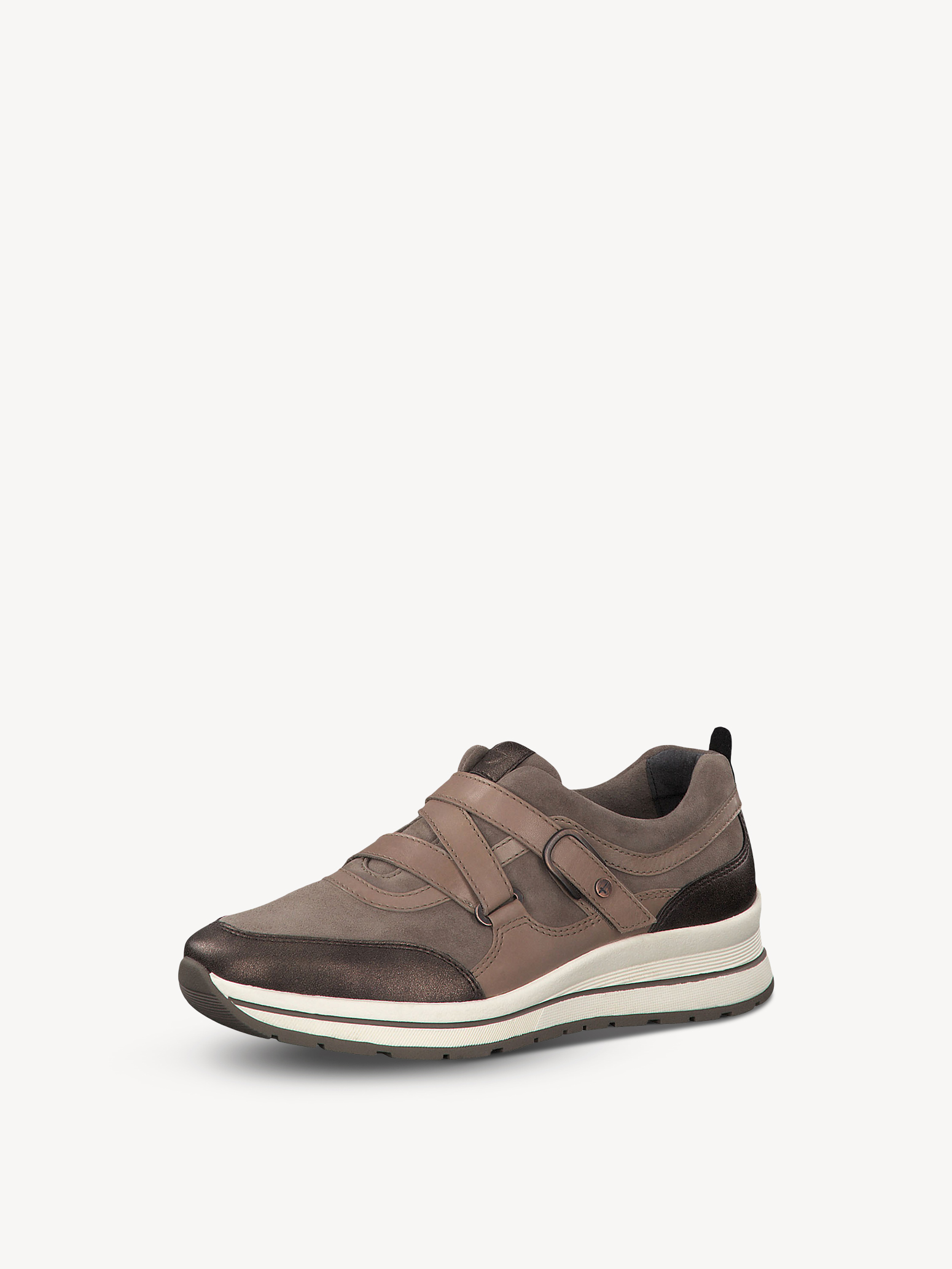 Leather Sneaker - brown, TAUPE COMB, hi-res