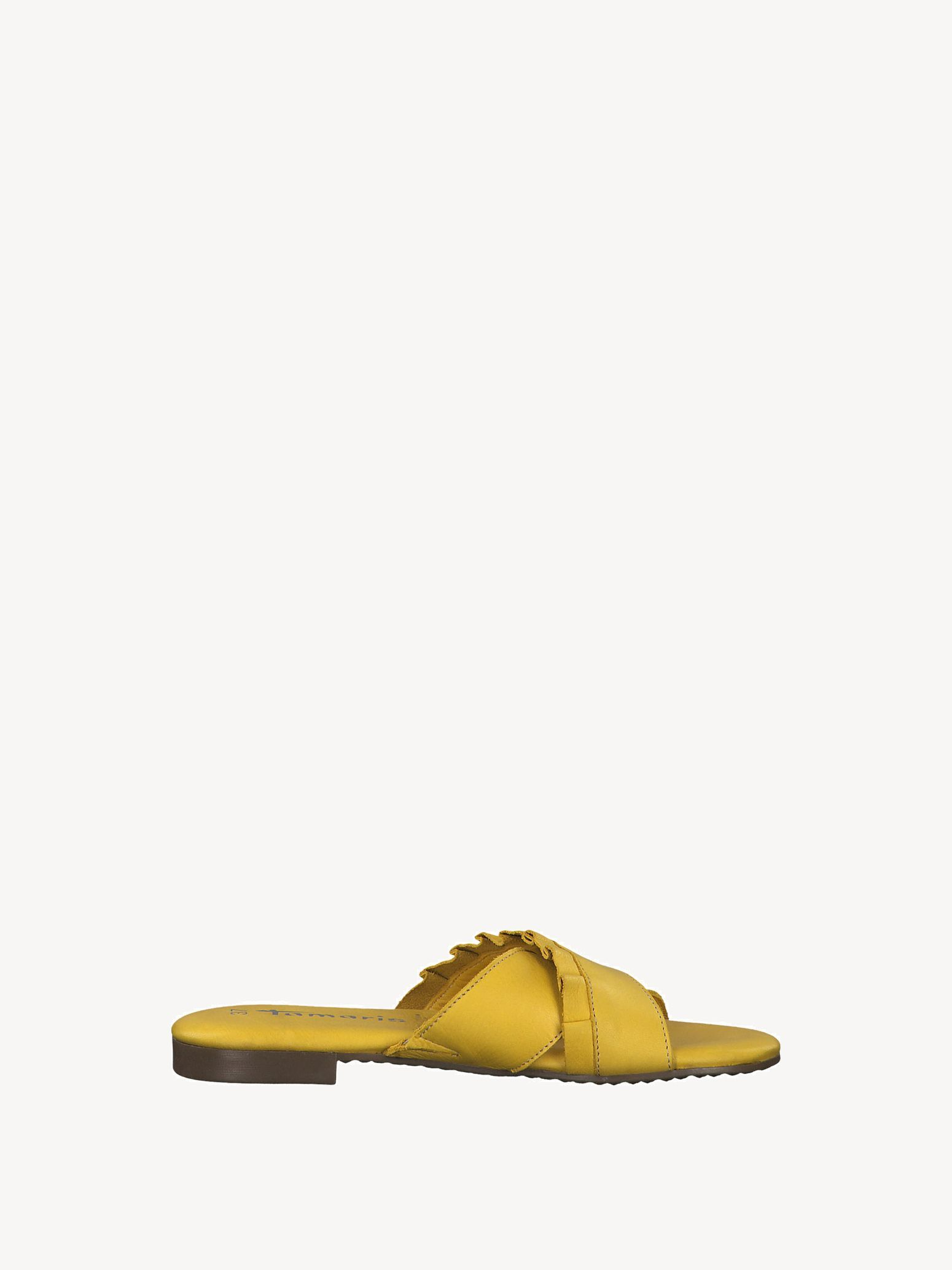 Leather Mule - yellow, SUN, hi-res