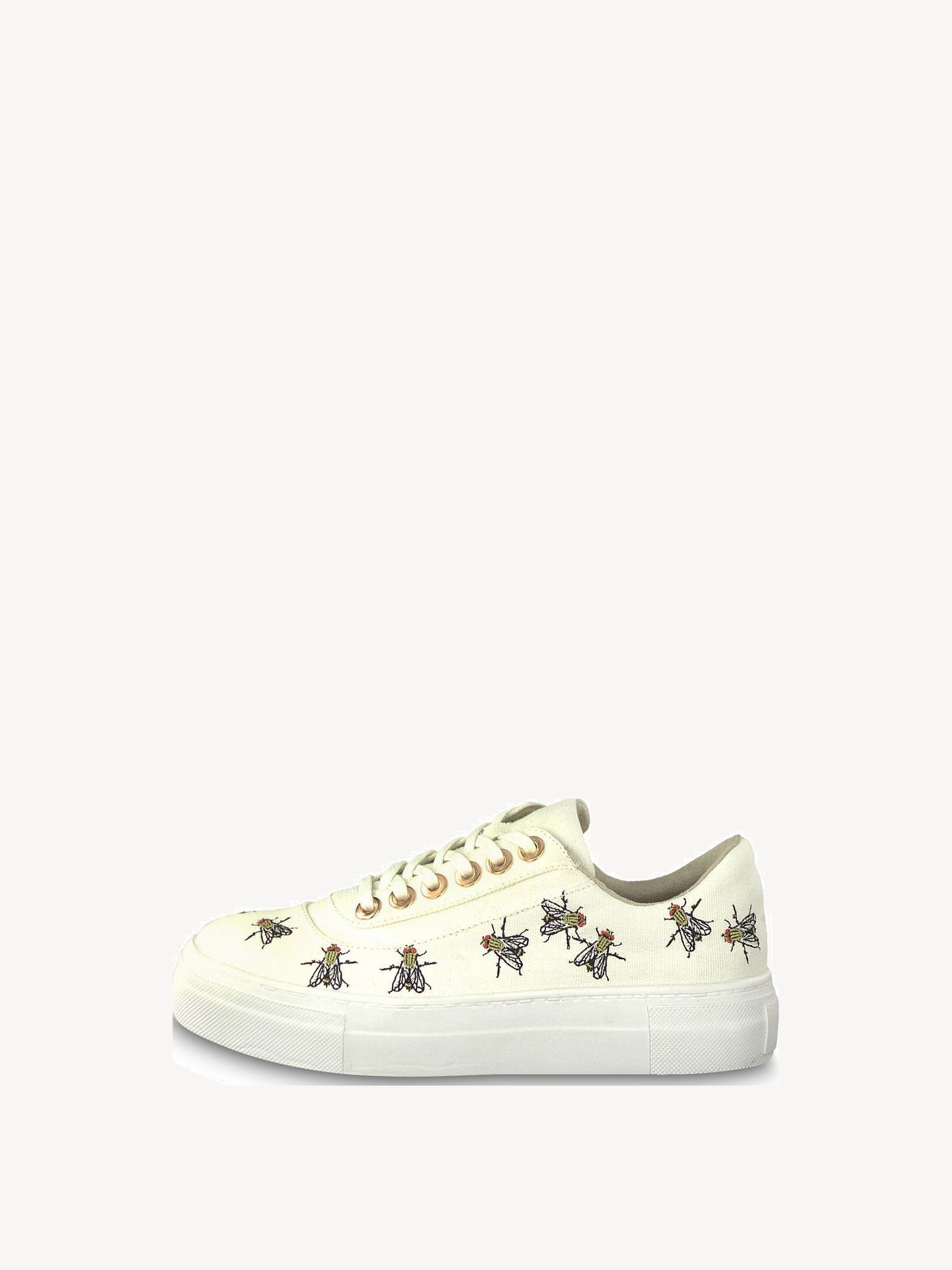 sneakers white and gold tamaris