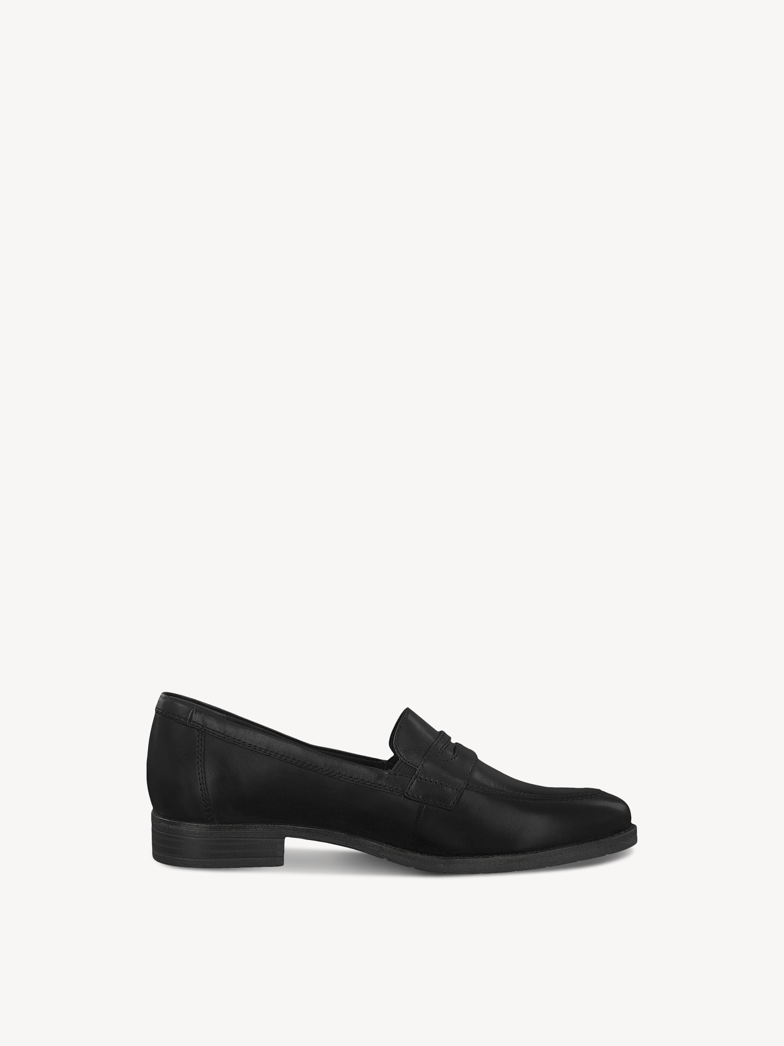 Leather Slipper - black, BLACK, hi-res