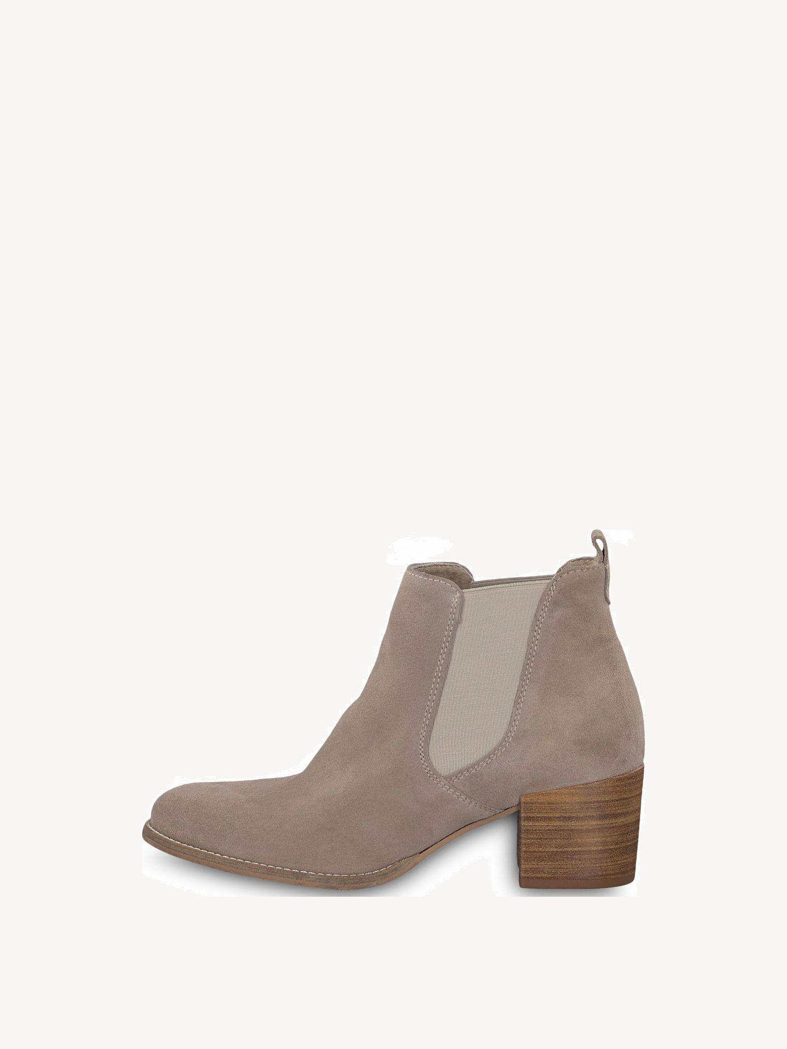 Tamaris Stiefeletten 38 Leder taupe Schuhe Stiefel
