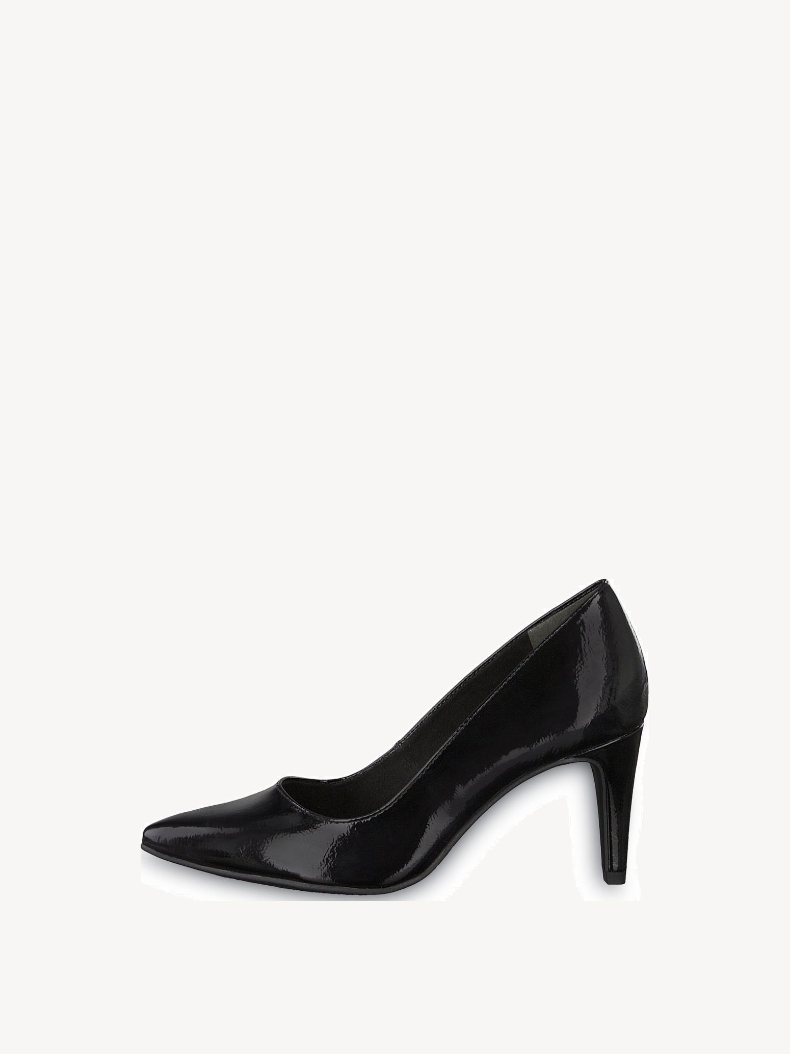 Tamaris 22447 Point Court Shoes in Black Patent
