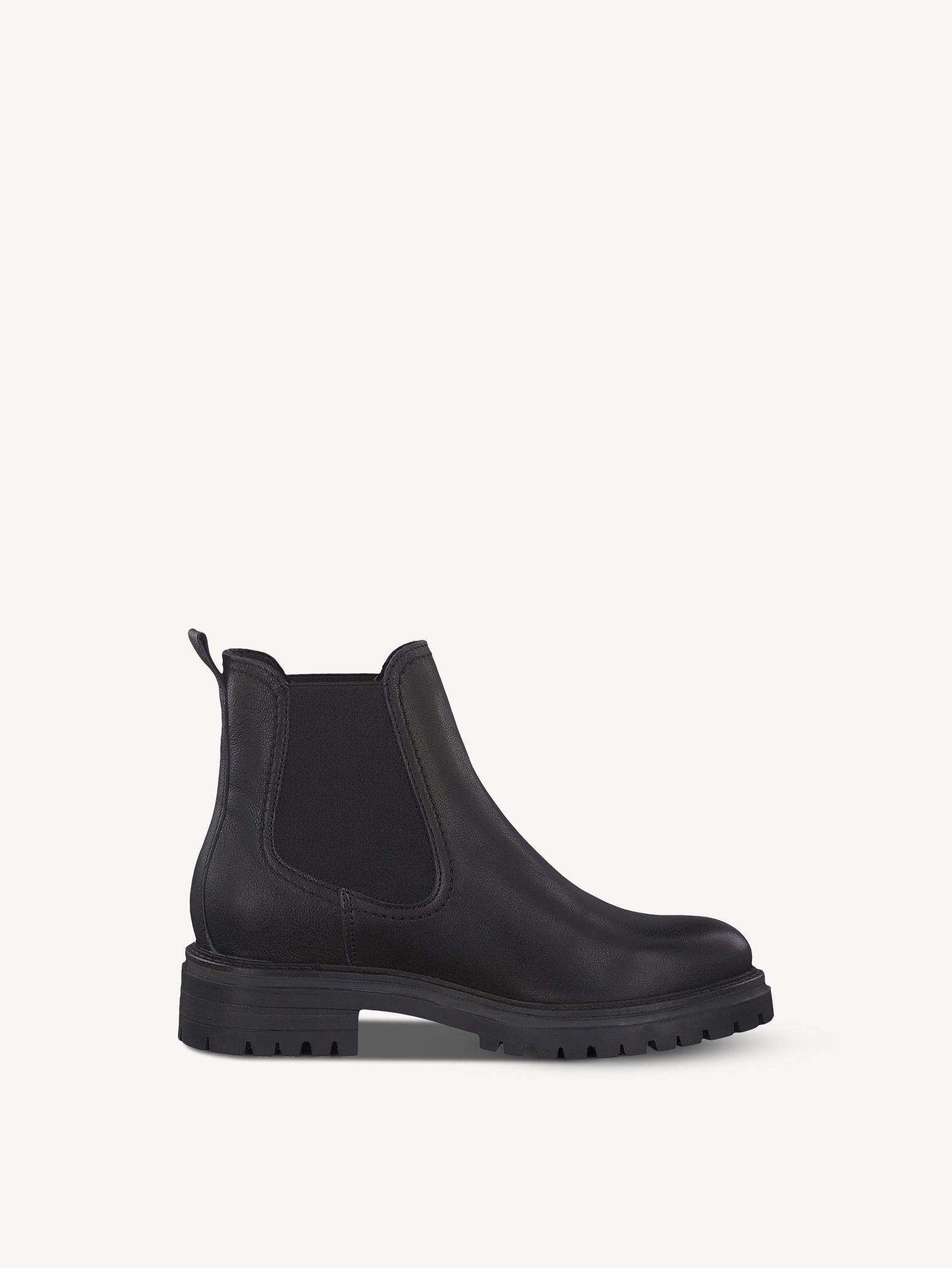 Leather Chelsea boot - black, BLACK LEATHER, hi-res