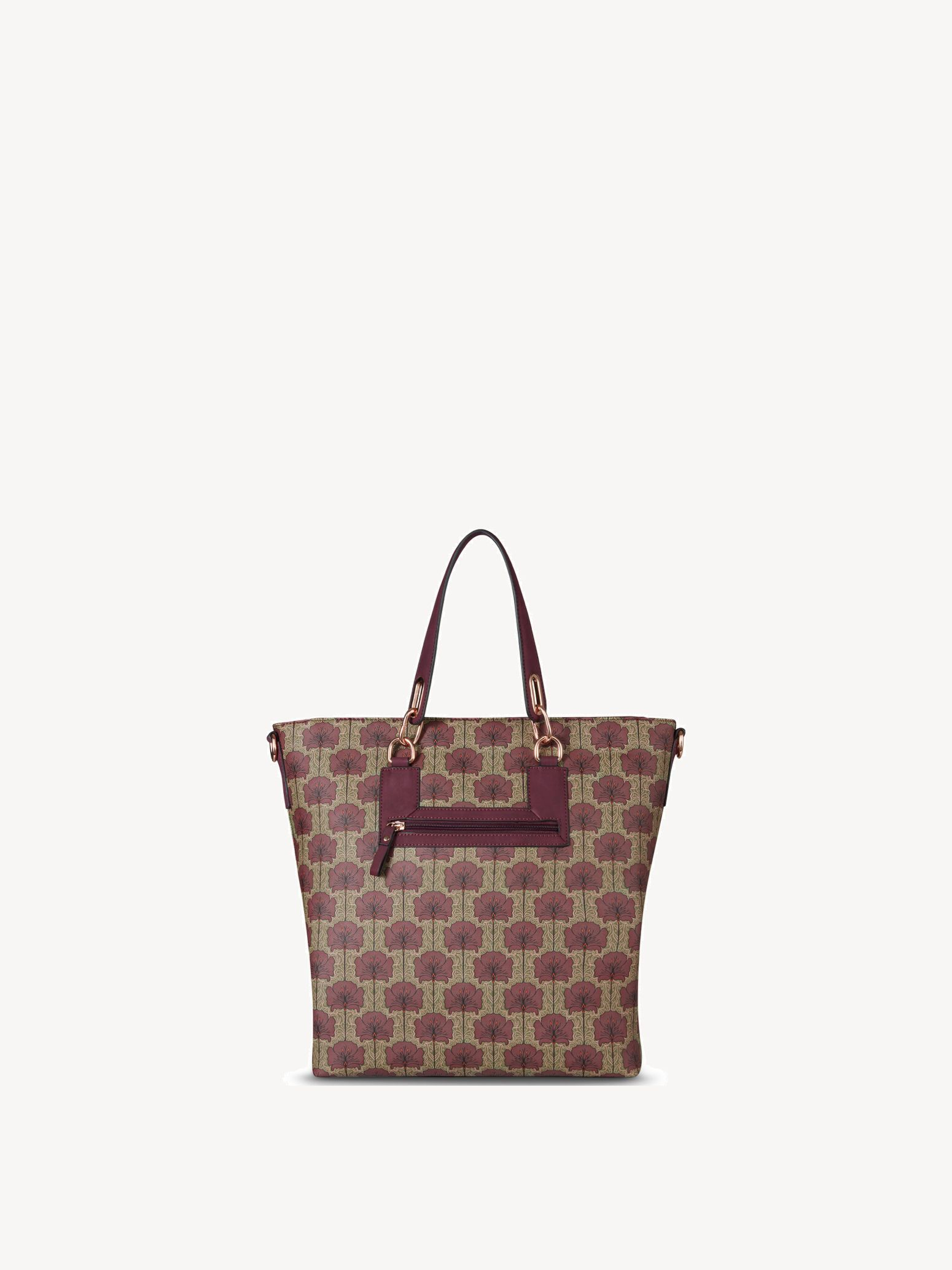 Shopping bag, bordeaux comb, hi-res