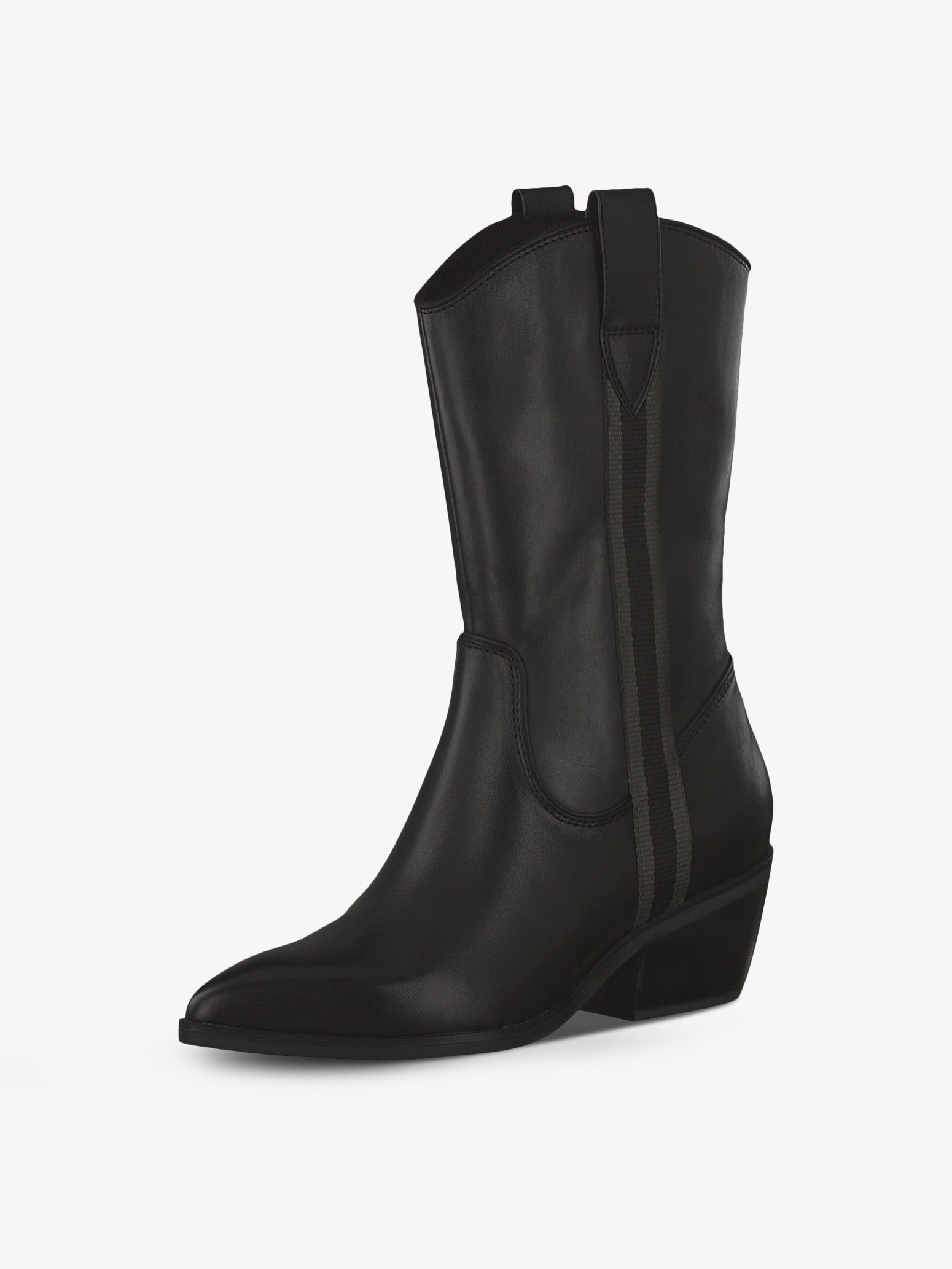 Leather Boots - black, BLACK LEATHER, hi-res