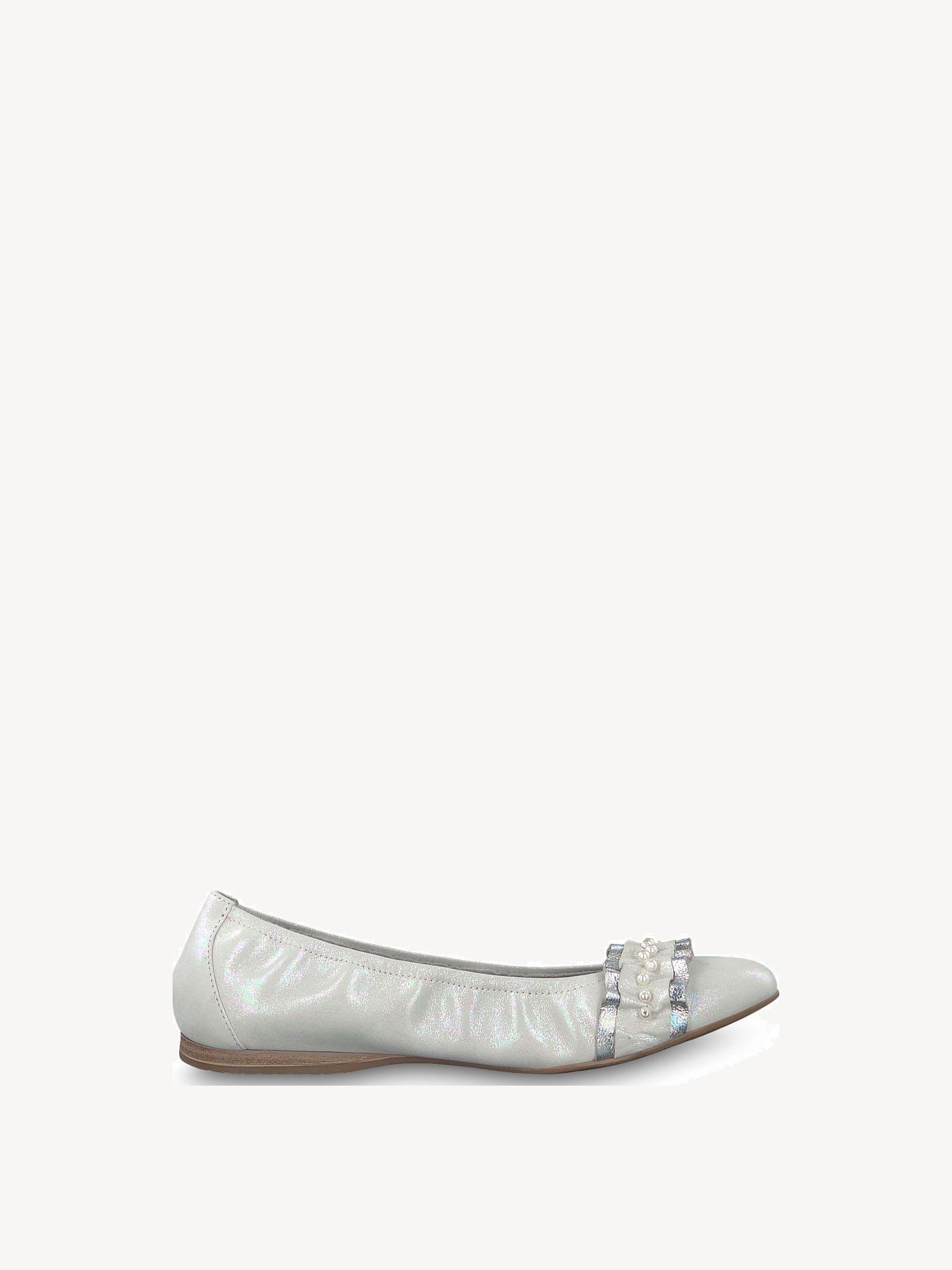 Tamaris Ballerina in Weiss Ballerina weiß , Schuhgröße