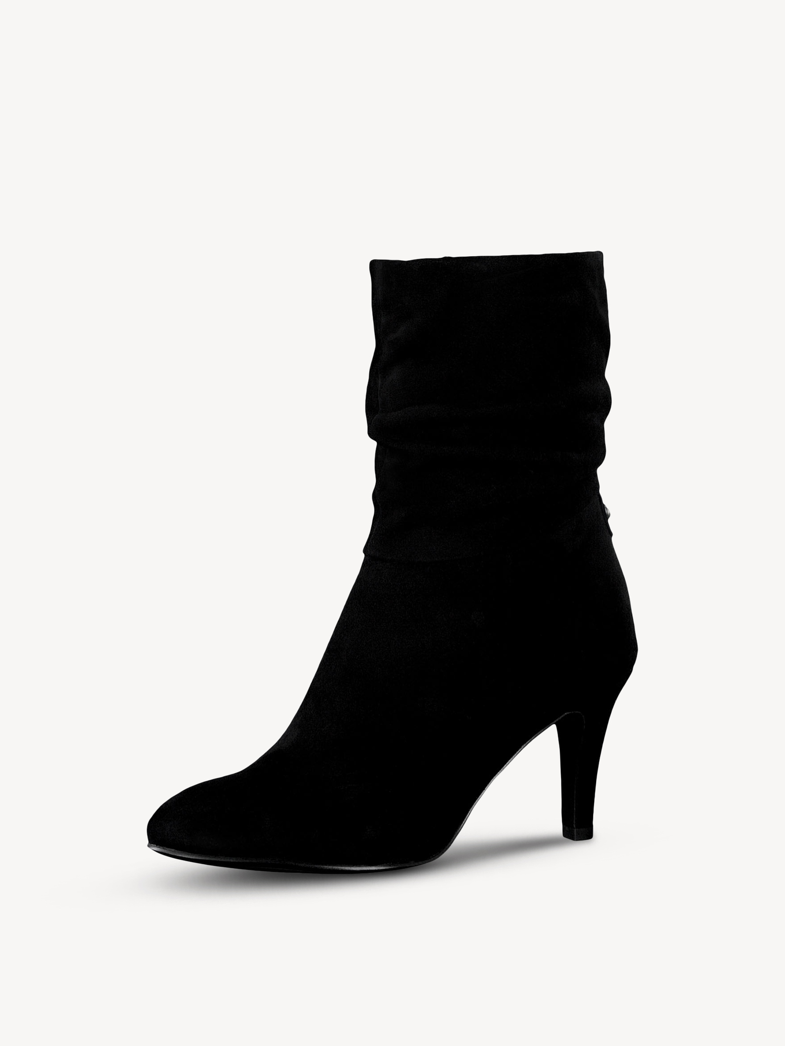Leather Bootie - black, BLACK, hi-res