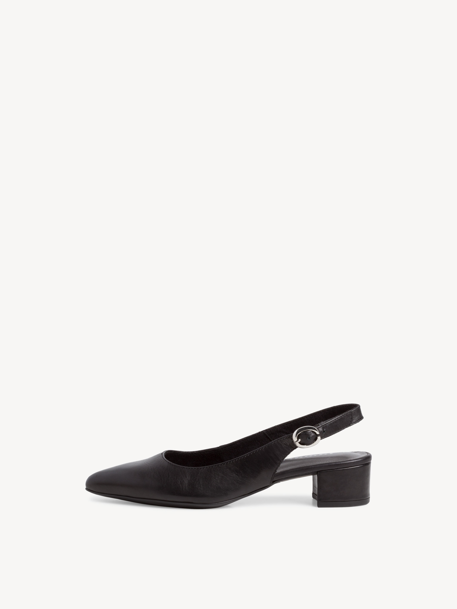 Leather sling pumps