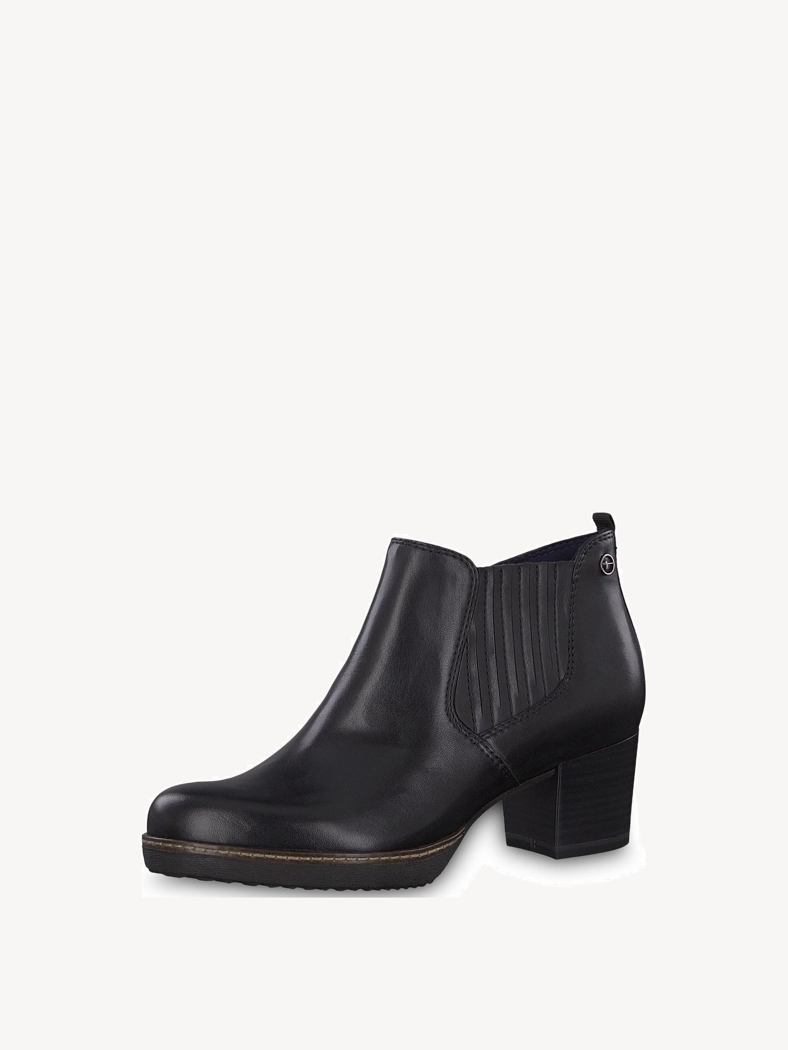 Leather Bootie - black, BLACK LEATHER, hi-res