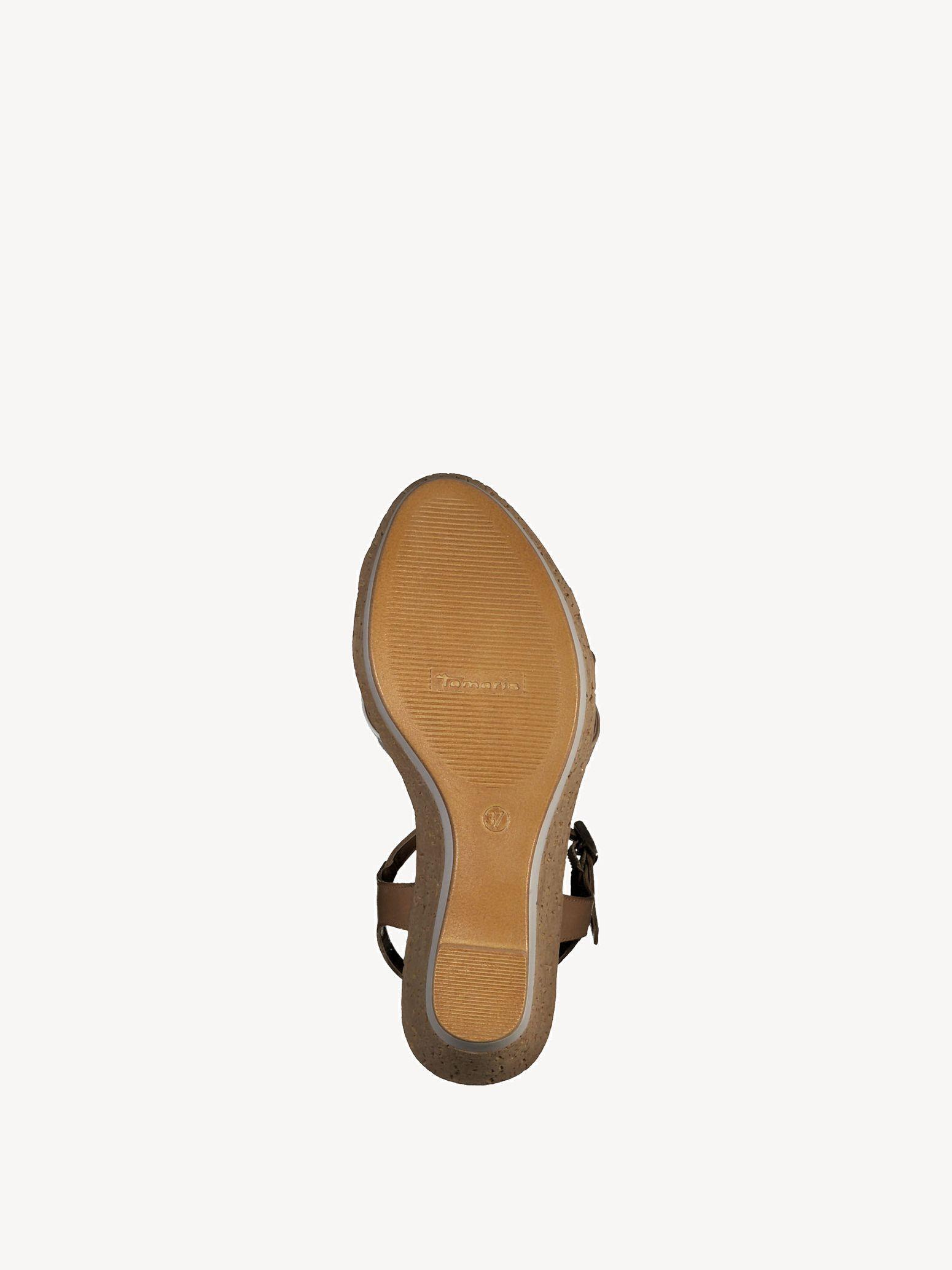 tamaris sneaker schwarz 38, Tamaris keilsandalette cognac