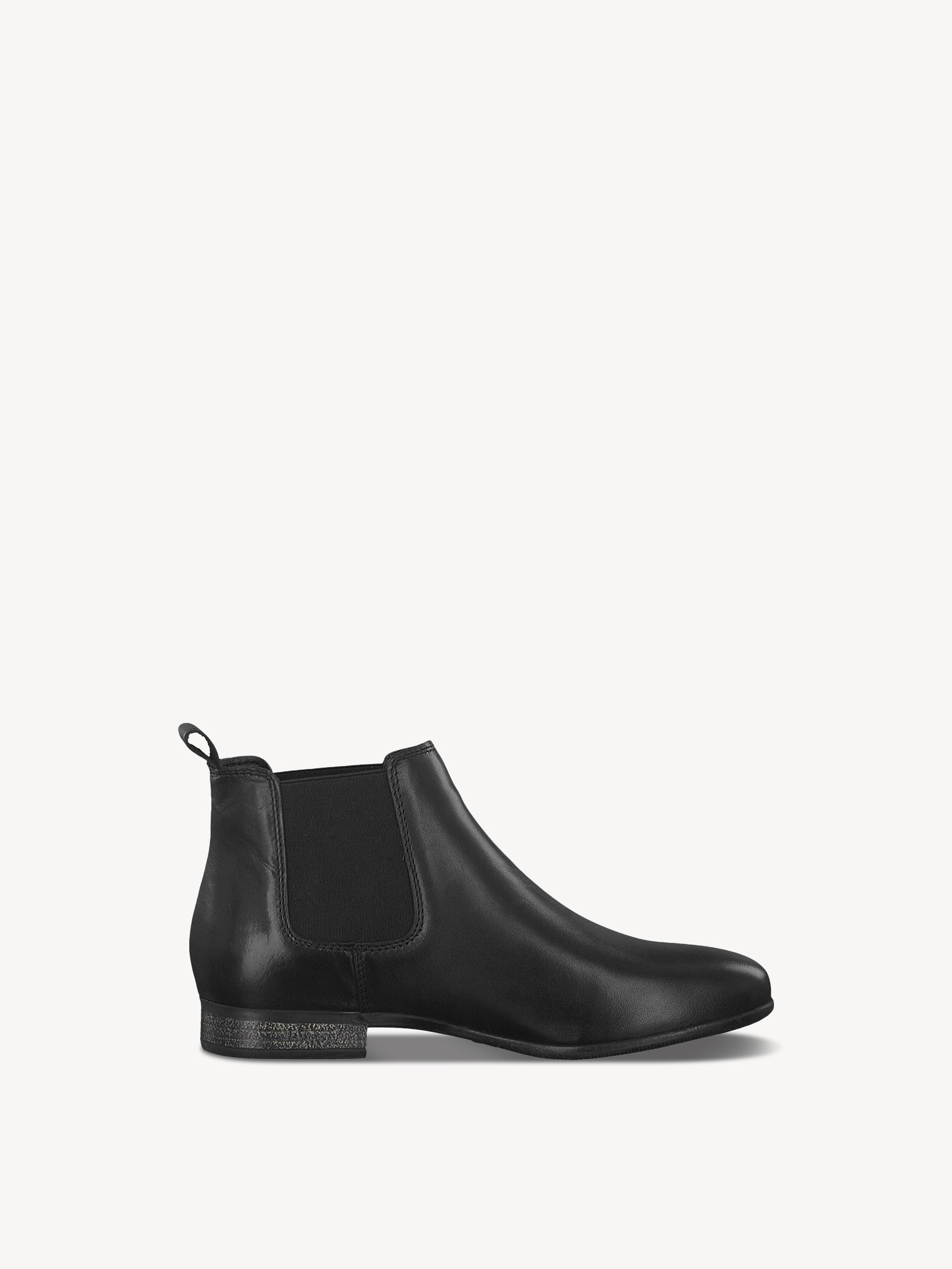 Leather Chelsea boot - black, BLACK, hi-res