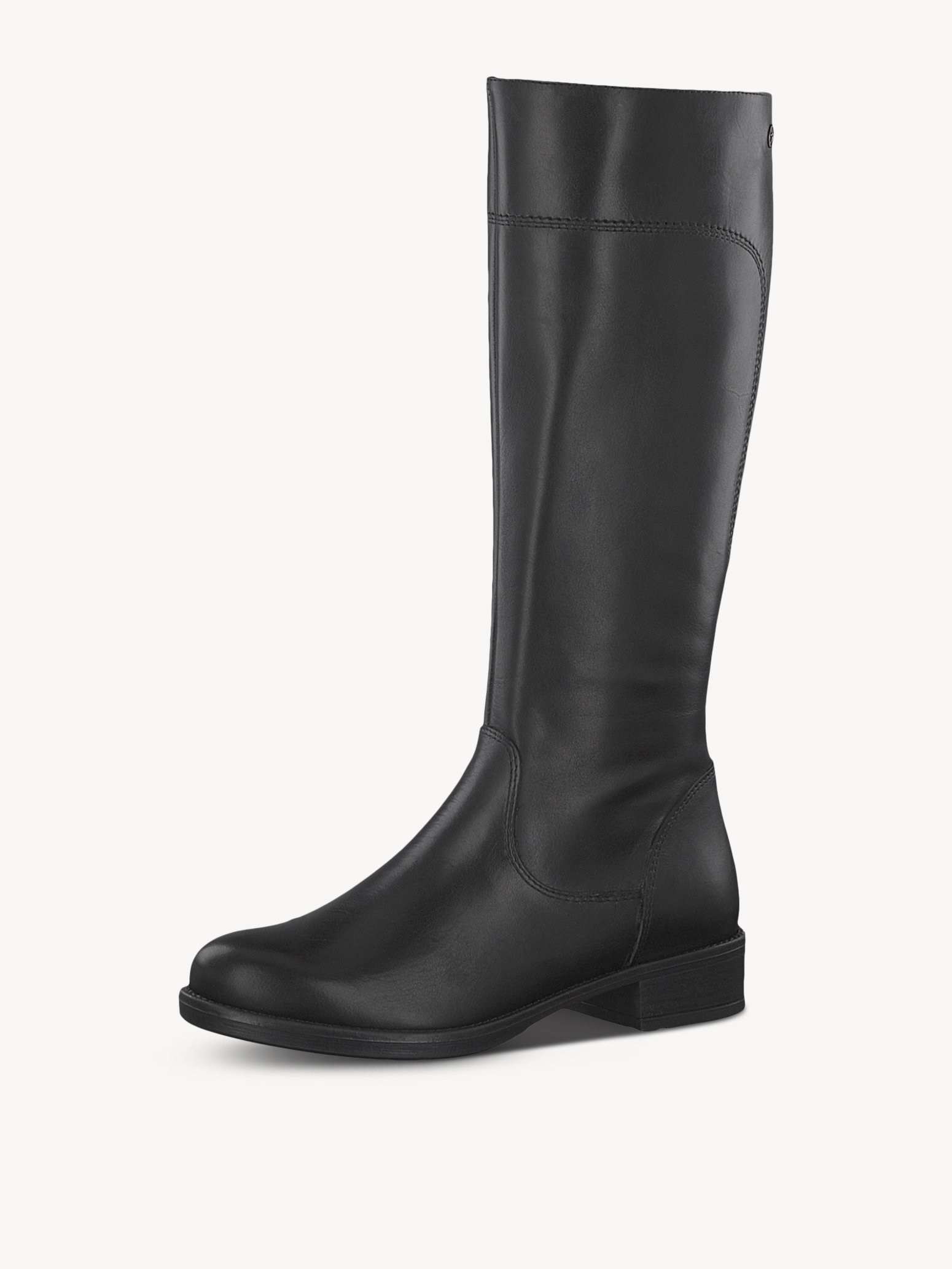 Leather Boots - black, BLACK, hi-res