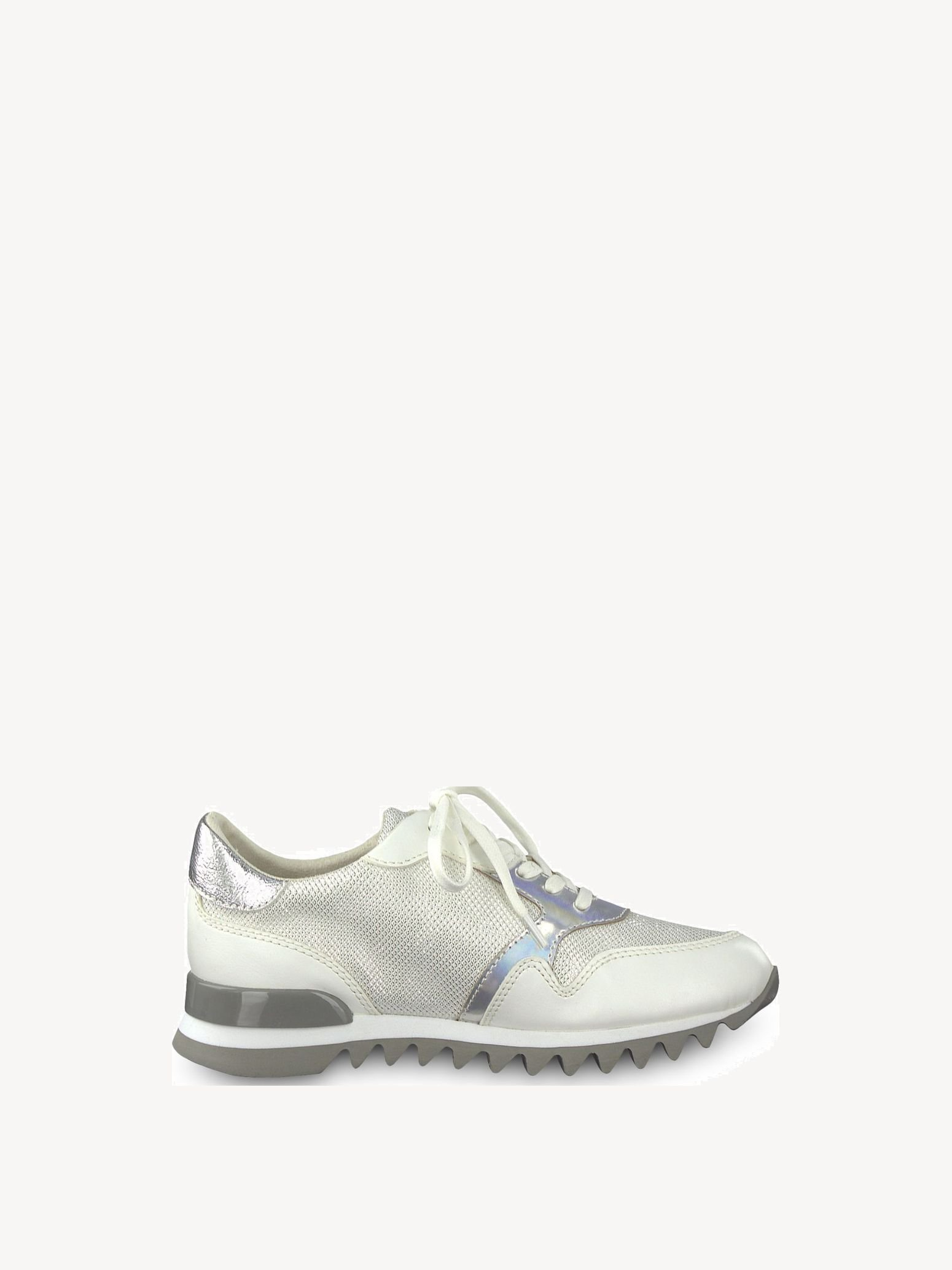 Chaussure basse - blanc, WHITE/SILVER, hi-res