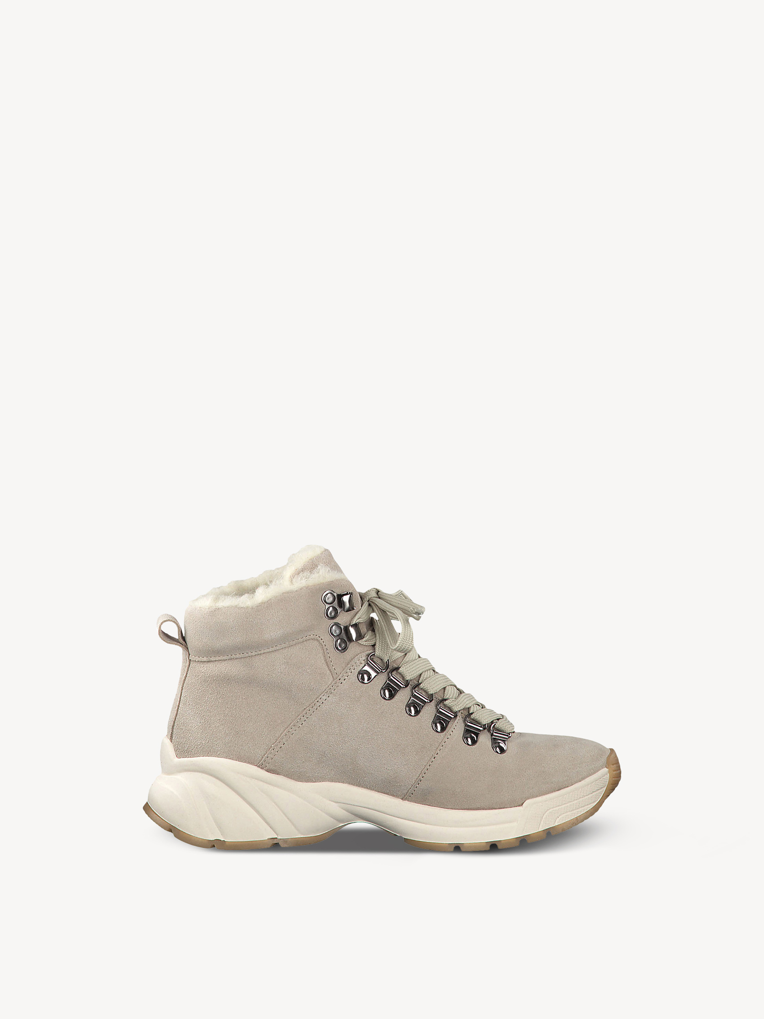 Leather Bootie - beige, BEIGE, hi-res