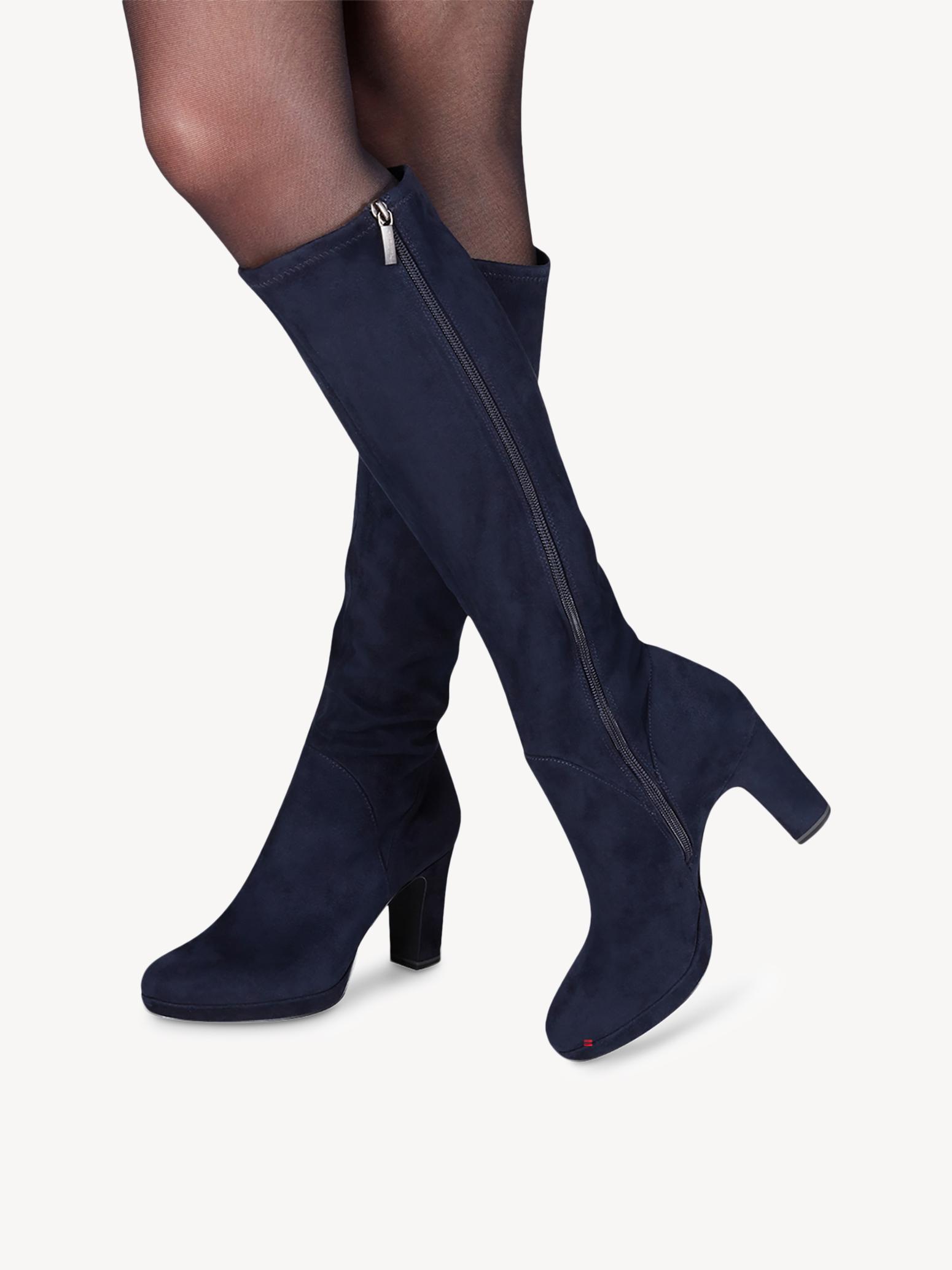 purchase cheap e0897 8027f Overknee Blau Tamaris Stiefel Tamaris Stiefel Overknee ...