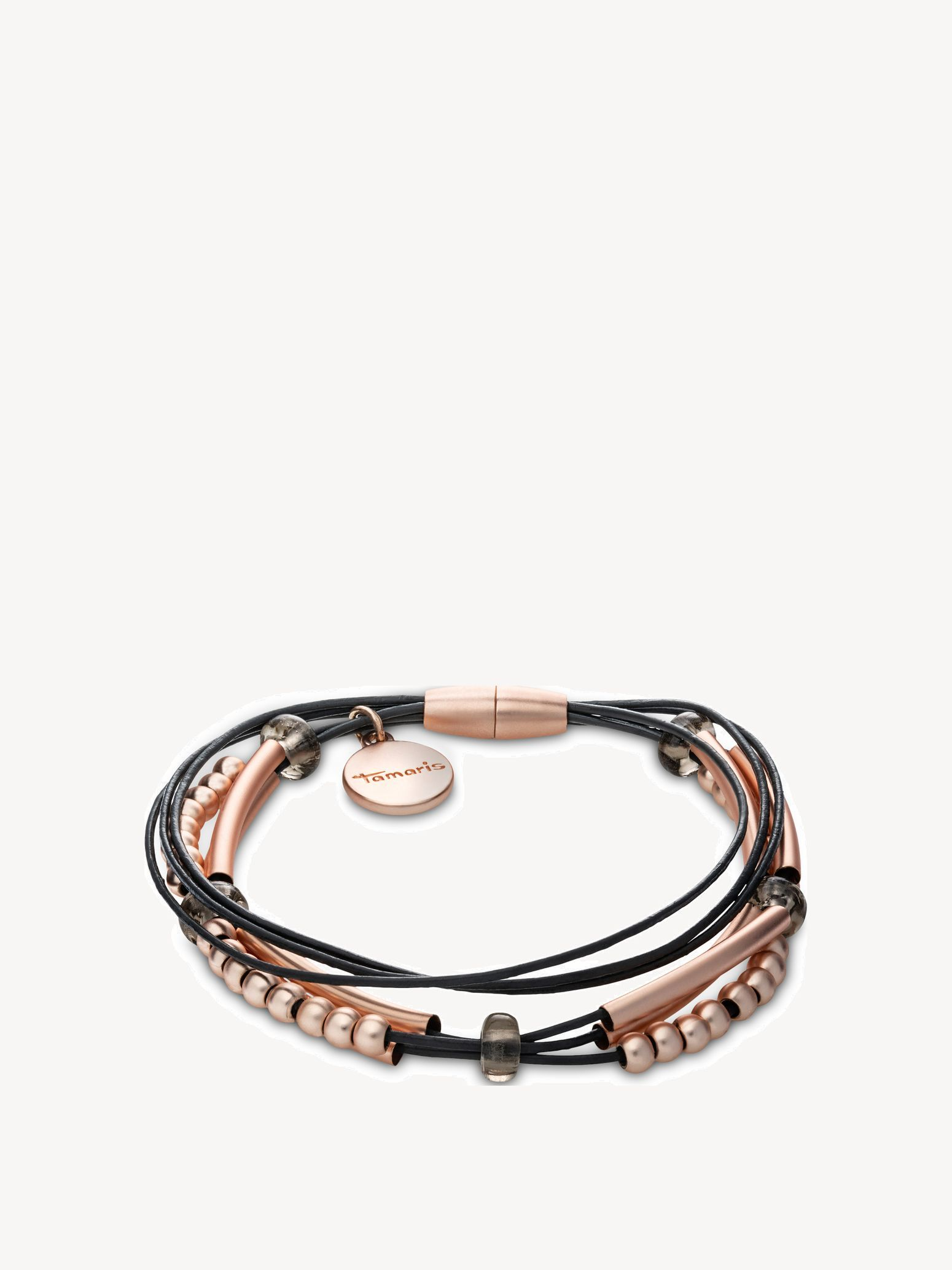 Bracelet - rosegold, rose black, hi-res