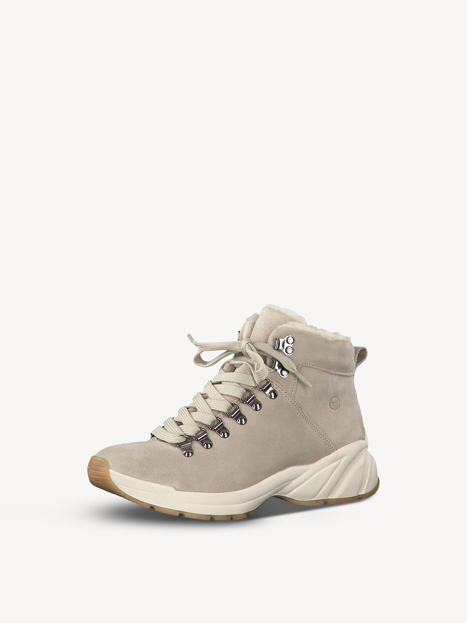 Bottine en cuir - beige, BEIGE, hi-res