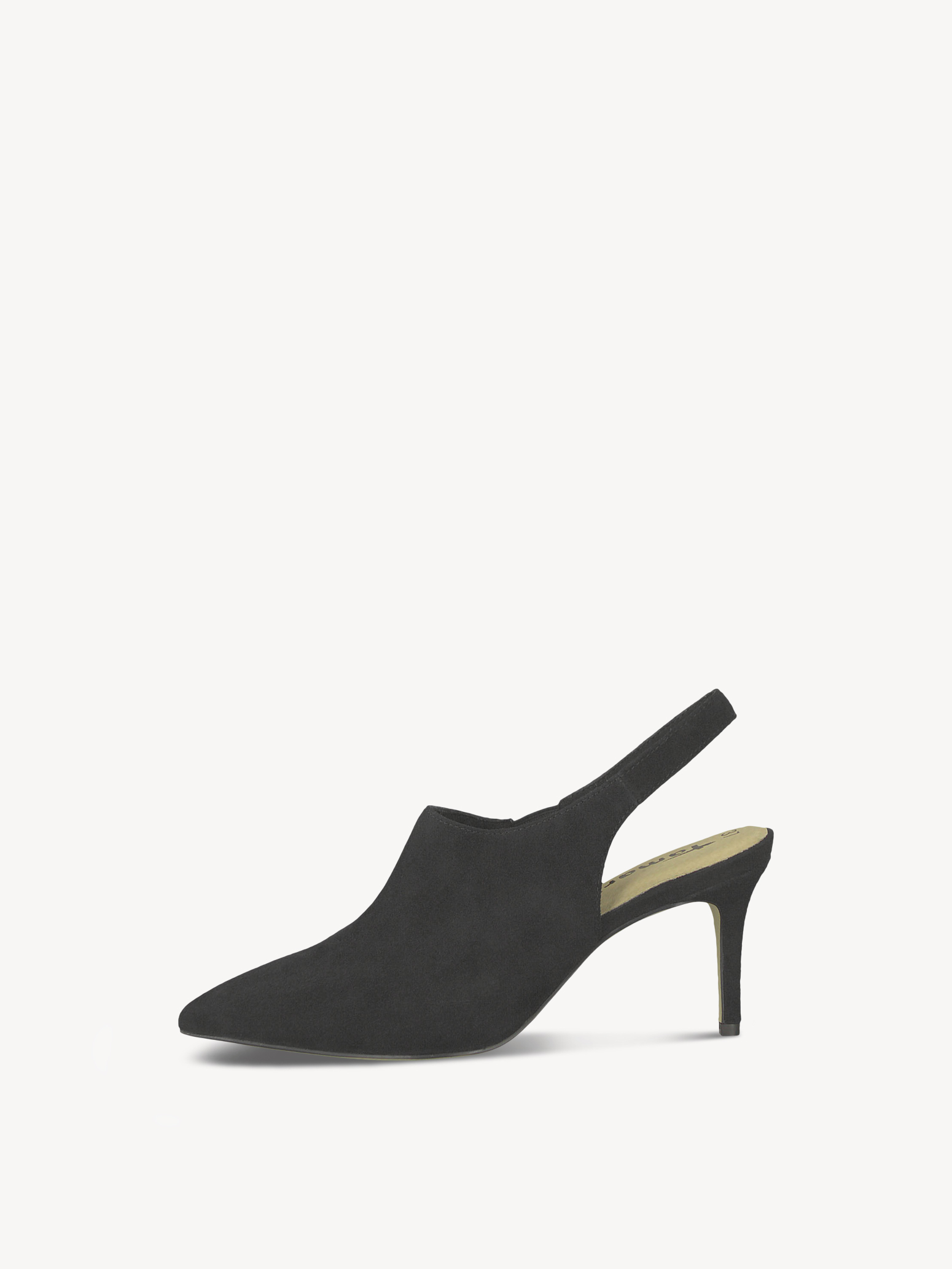 Leather sling pumps - black, BLACK, hi-res