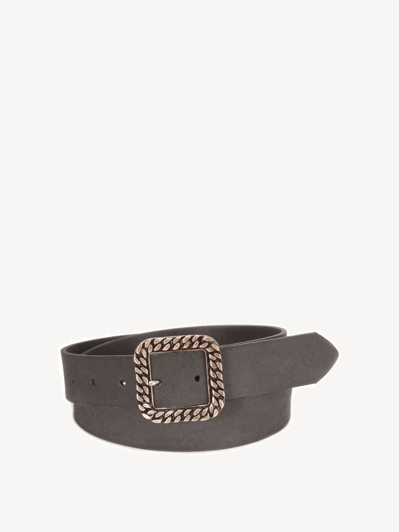 Leather Belts - black, Black, hi-res