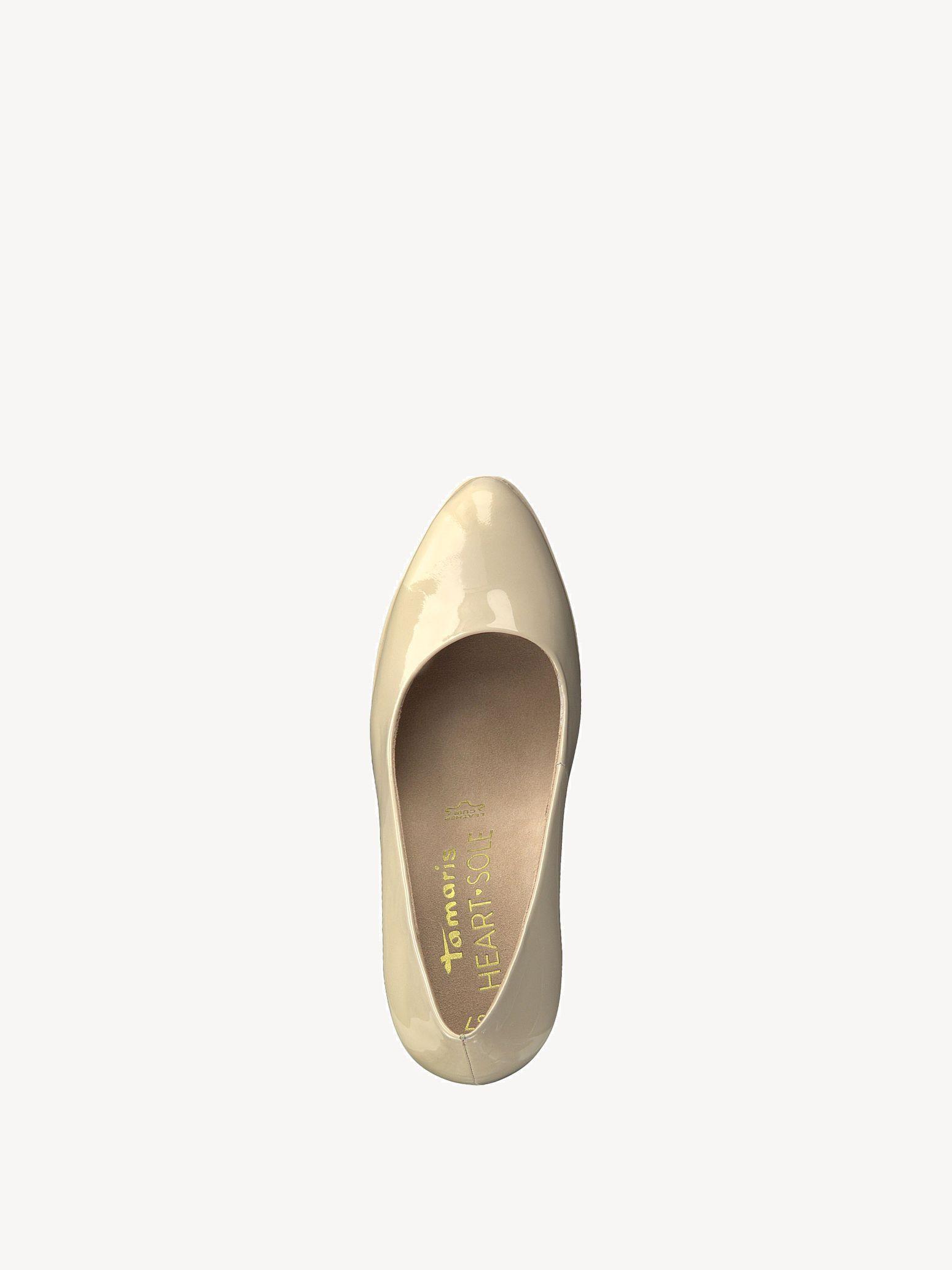 Tamaris Heart Sole Pumps 38 nude beige