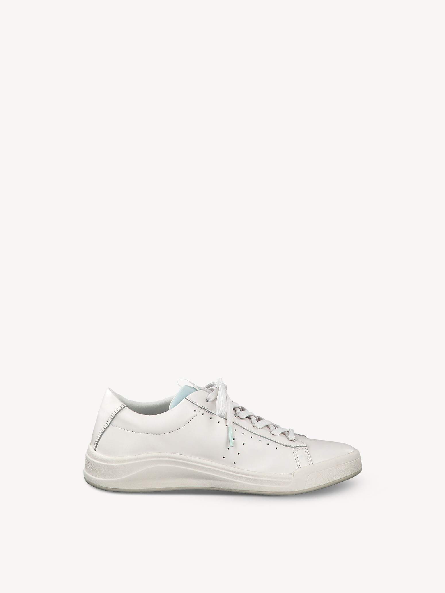 Basket en cuir - blanc, WHITE LEATHER, hi-res