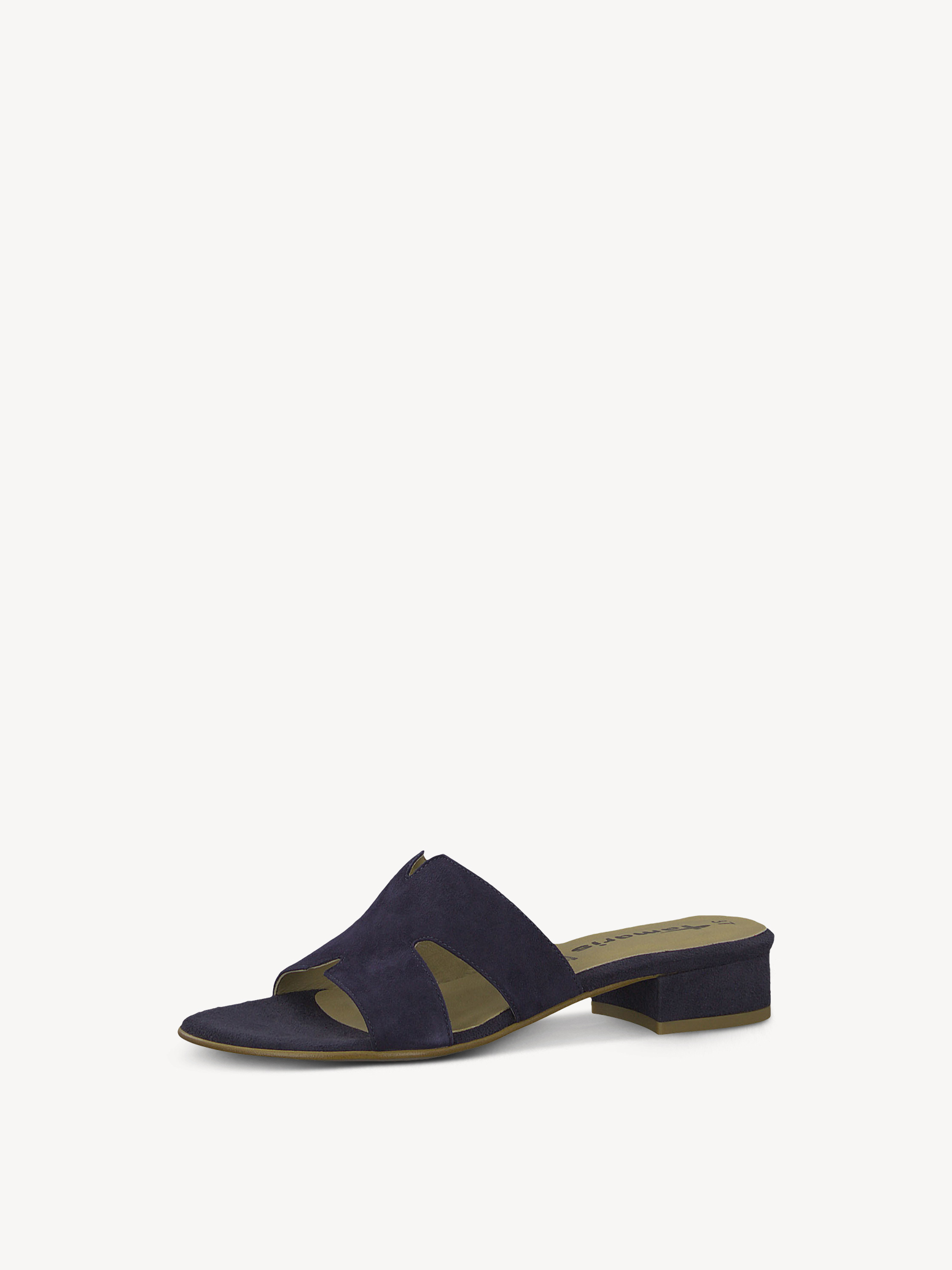 Leather Mule - blue, NAVY, hi-res