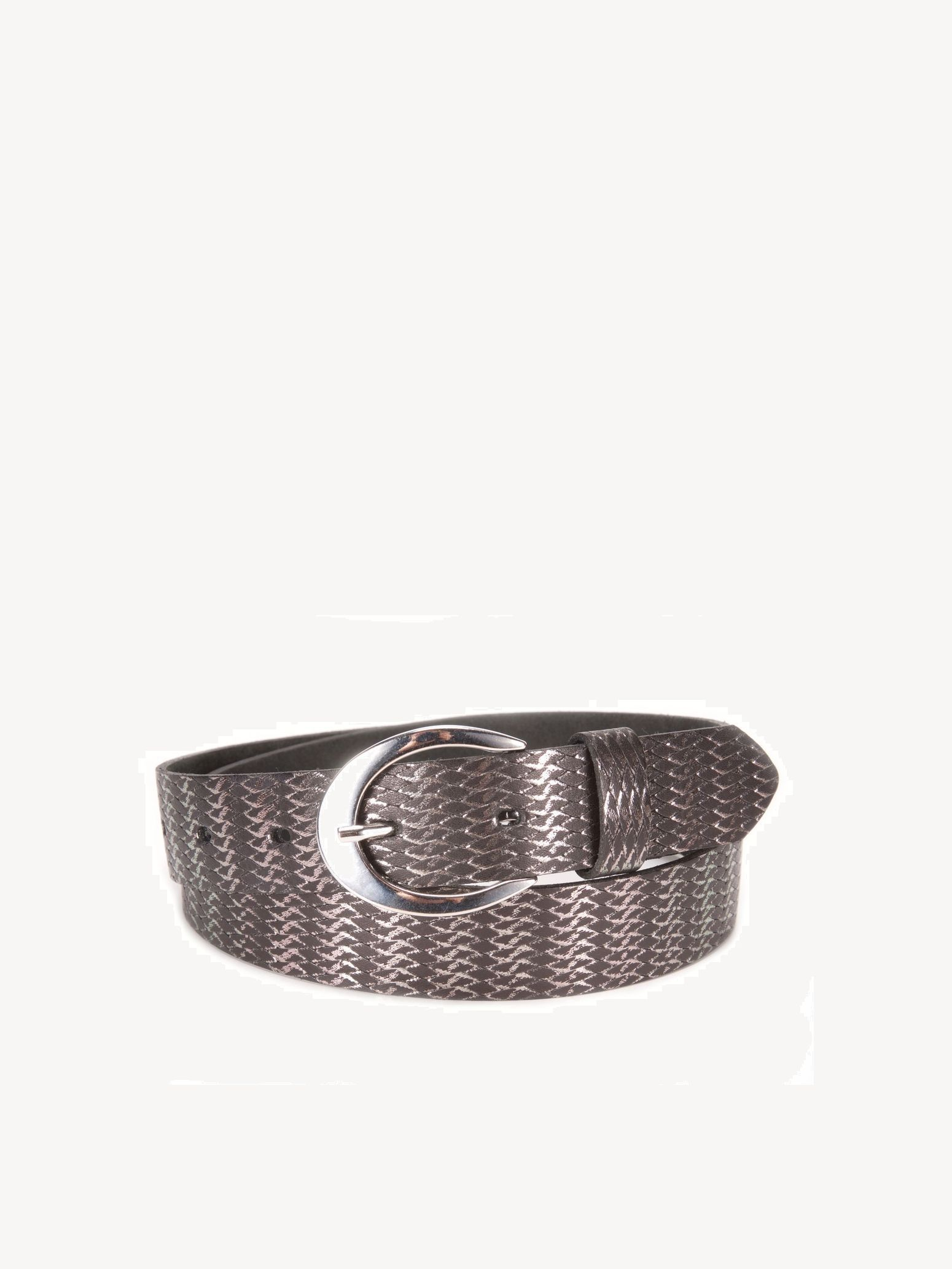 Leather Belts - silver, Black, hi-res