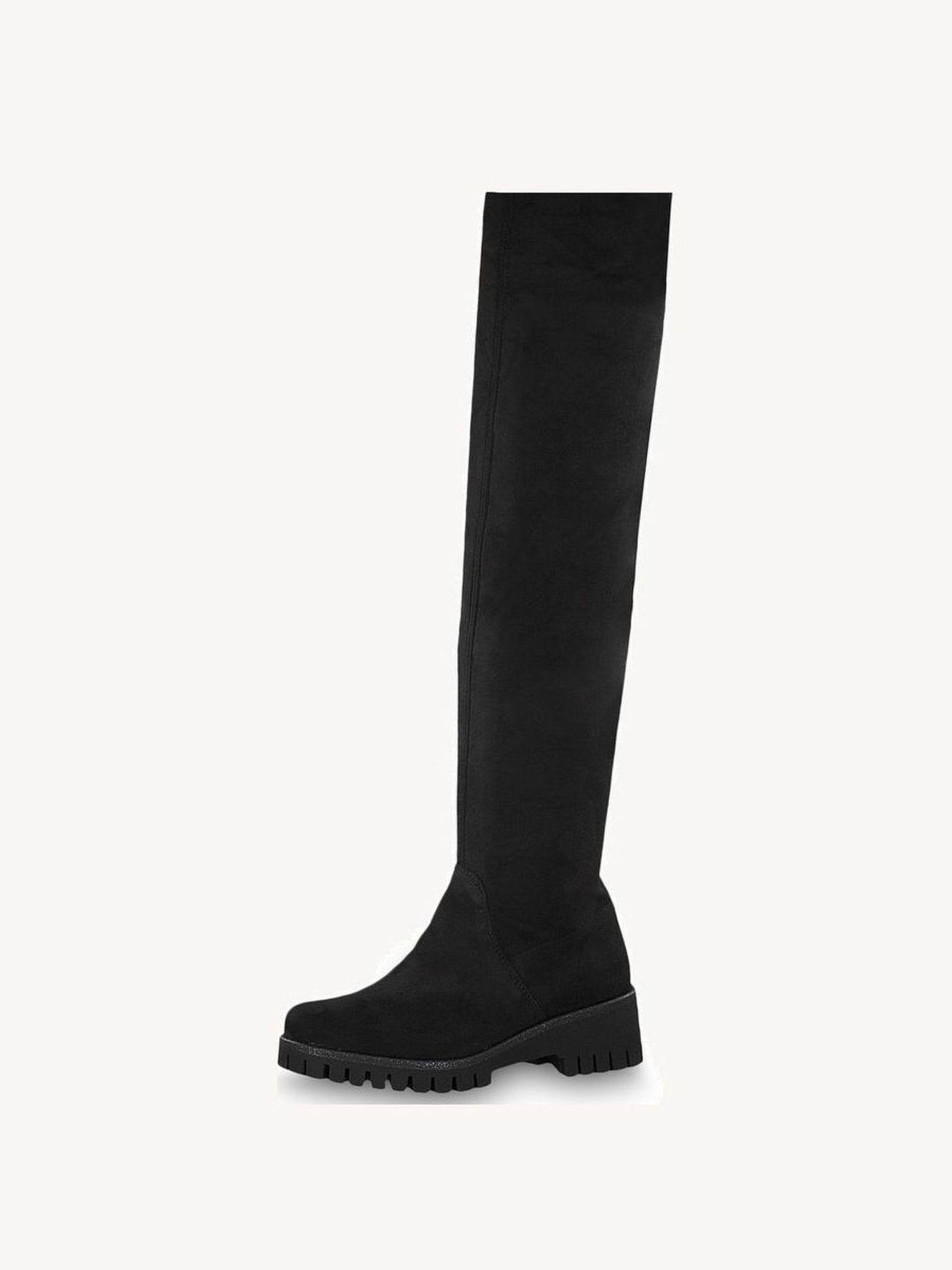Chaussures Tamaris Cuissardes black noir: 89,95 ₿chez